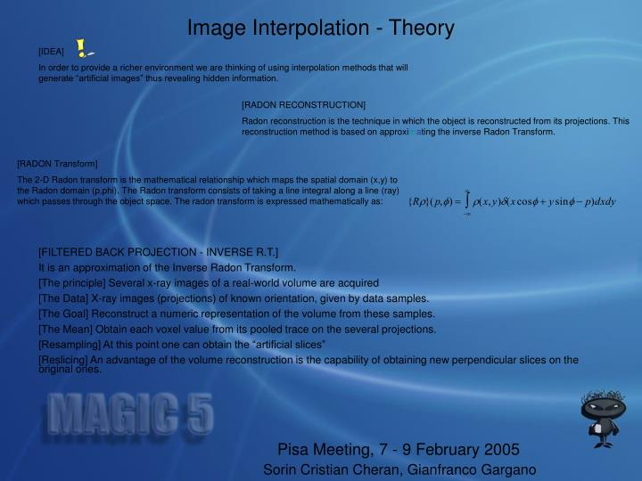 Image Interpolation - Theory