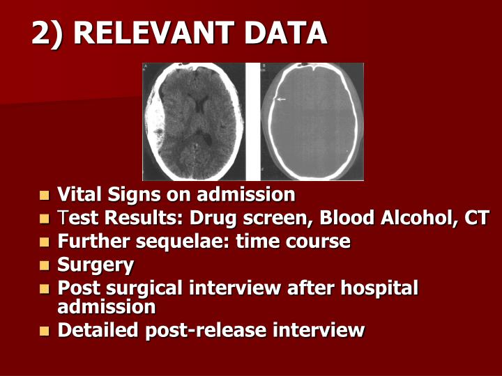 2) RELEVANT DATA