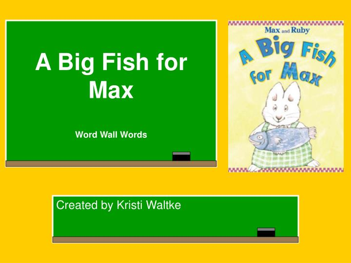 Ppt a big fish for max word wall words powerpoint for Is fishes a word
