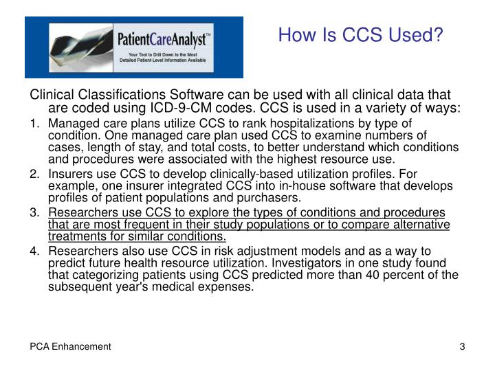 How is ccs used