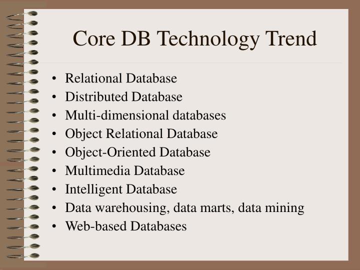 Core DB Technology Trend