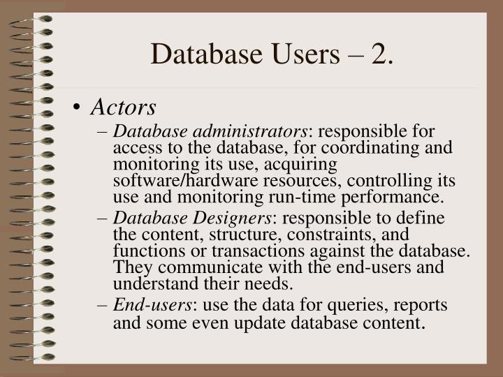 Database Users – 2.