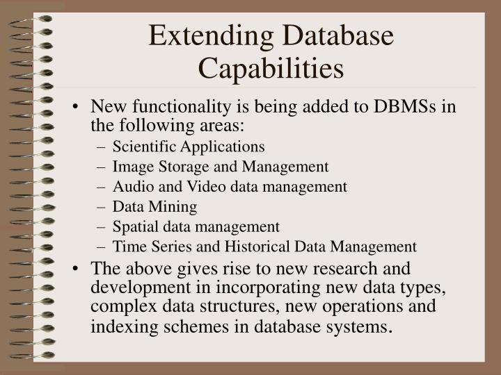 Extending Database Capabilities