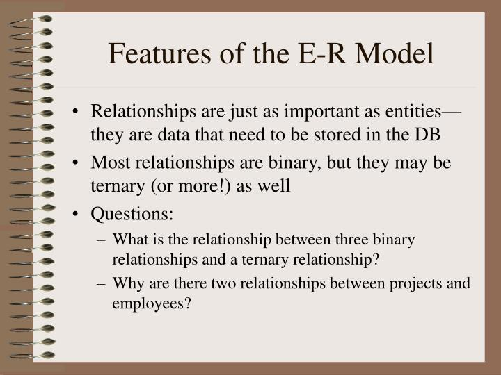Features of the E-R Model