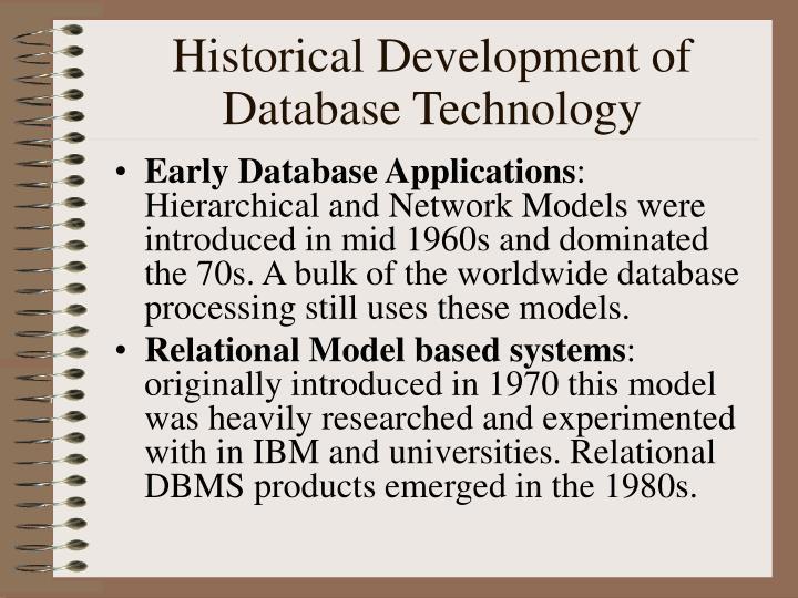 Historical Development of Database Technology