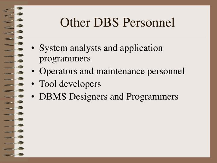 Other DBS Personnel