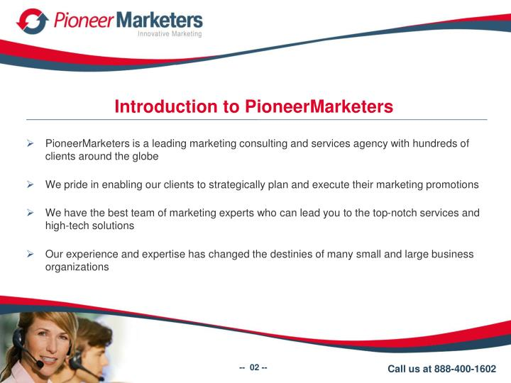 Introduction to PioneerMarketers