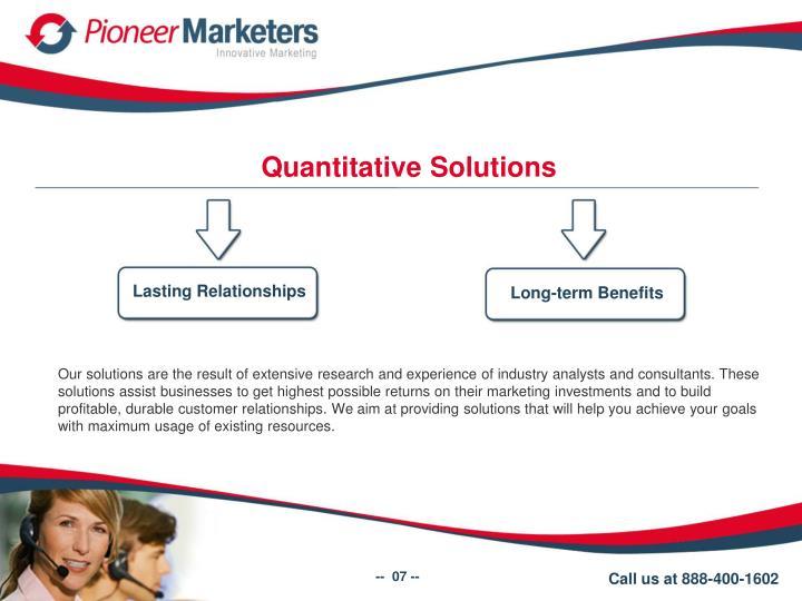 Quantitative Solutions