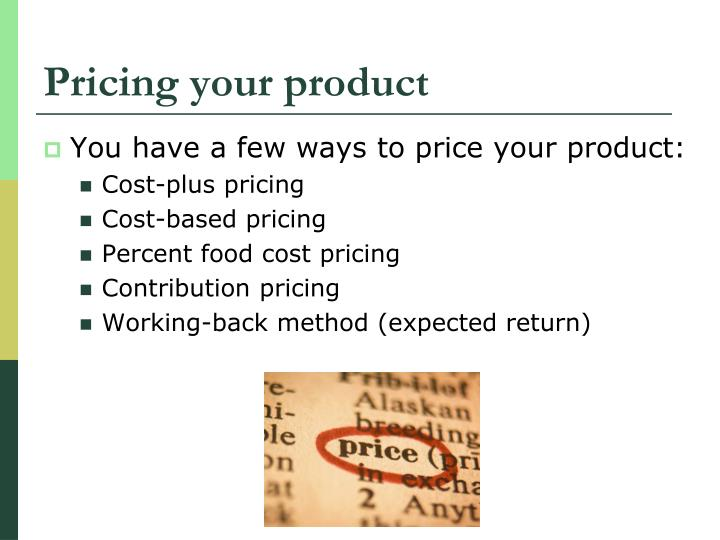 Pricing your product