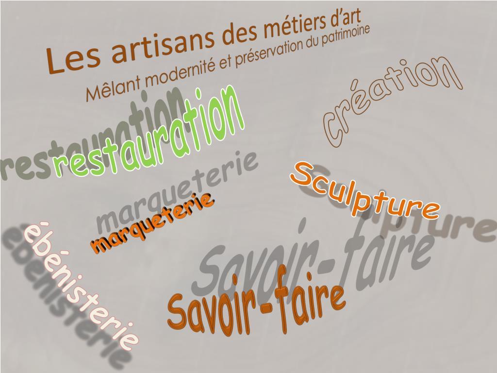 Les artisans des métiers d'art