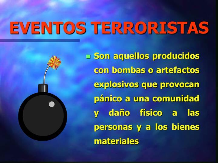 EVENTOS TERRORISTAS