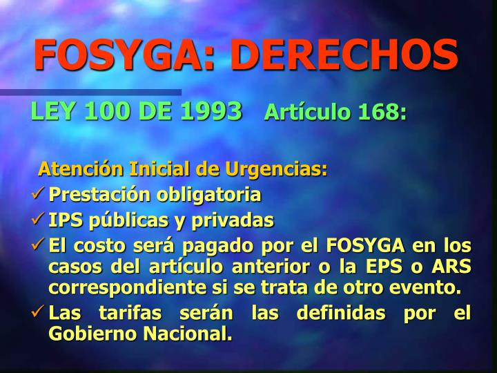 FOSYGA: DERECHOS