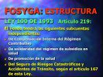 fosyga estructura