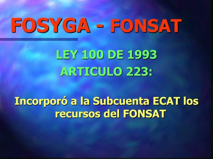 FOSYGA -