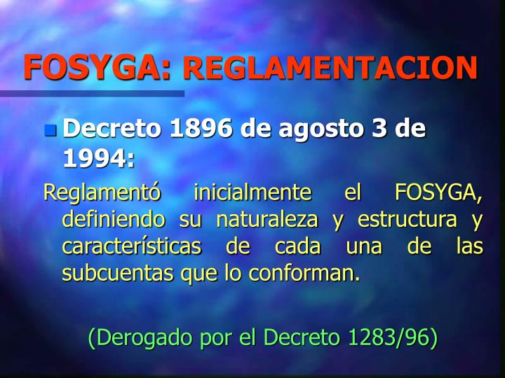 FOSYGA: