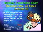 manual tarifario soat derechos sala de yesos art culo 53