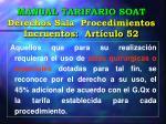 manual tarifario soat derechos sala procedimientos incruentos art culo 52