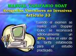 manual tarifario soat ecograf as vasculares no invasivas art culo 33