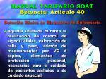 manual tarifario soat estancia art culo 40 dotaci n b sica de elementos de enfermer a