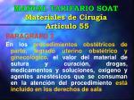 manual tarifario soat materiales de cirug a art culo 554
