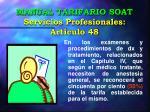 manual tarifario soat servicios profesionales art culo 48