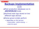backups implementation 1 3