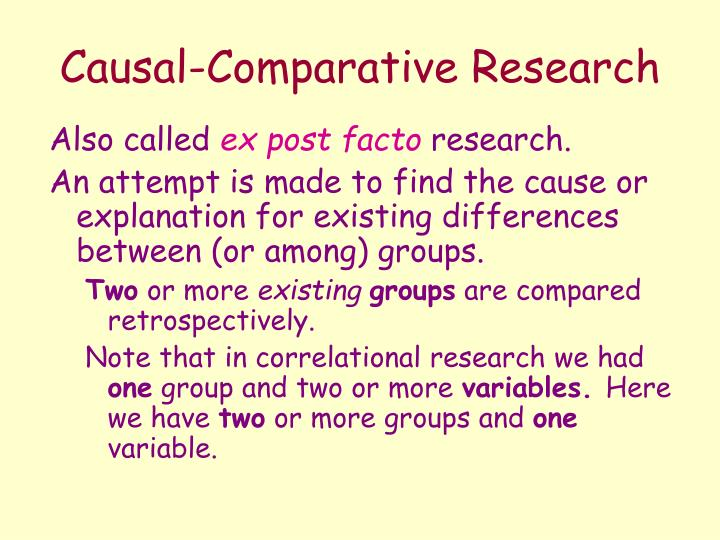 what is causal research Causal explanations argue that phenomenon y one of the fundamental purposes of research design in explanatory research is to avoid invalid inferences.