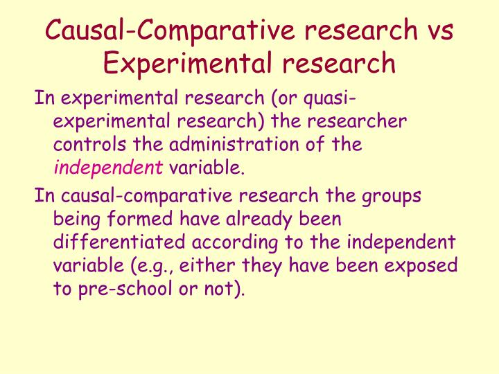 Ppt Correlational And Causal Comparative Research