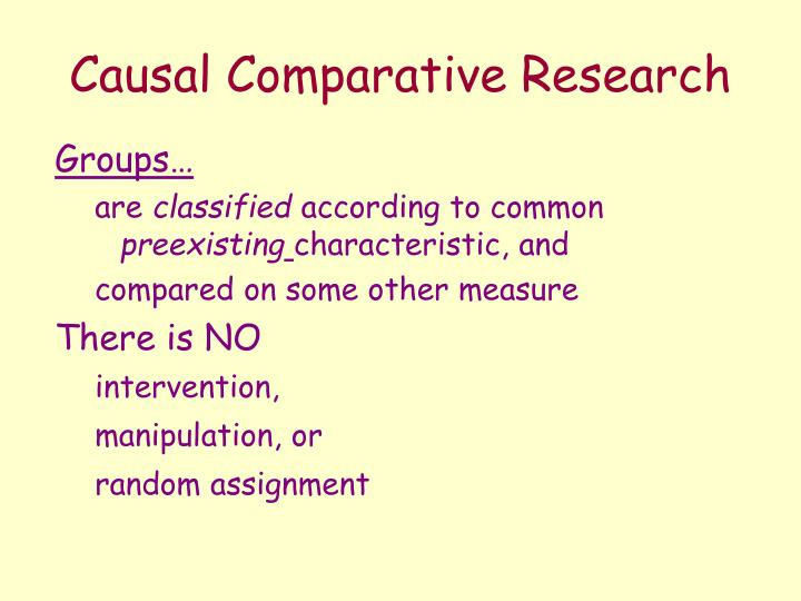causal comparative dissertation International journal of humanities and social science vol 1 no 4 april 2011 113 potentials and limitations of comparative method in social science.