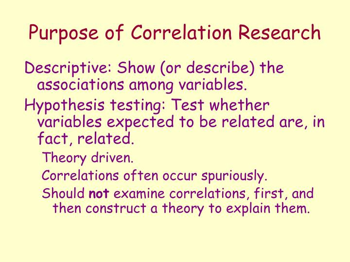 Correlation research dissertation