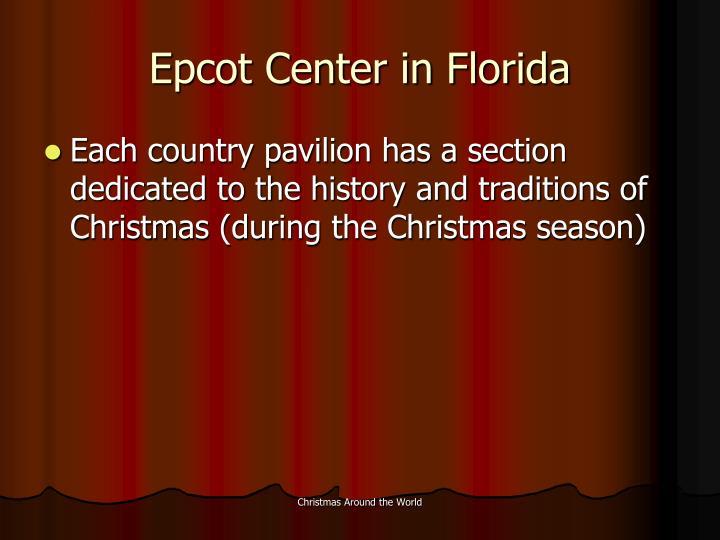 Epcot Center in Florida