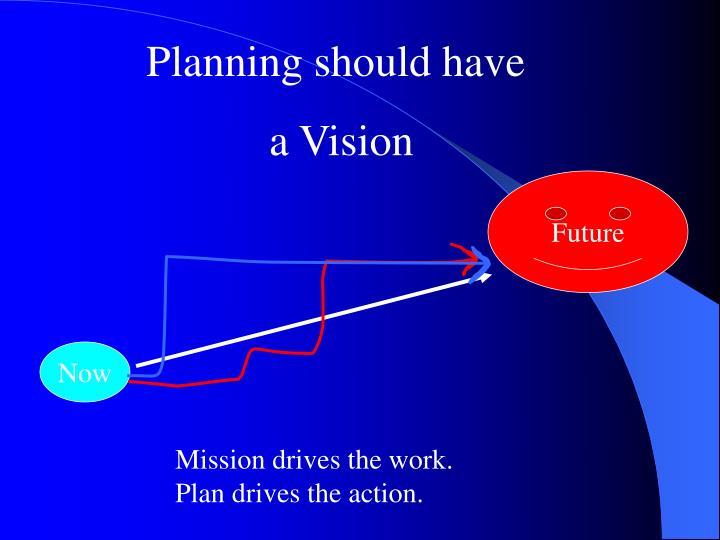 Planning should have