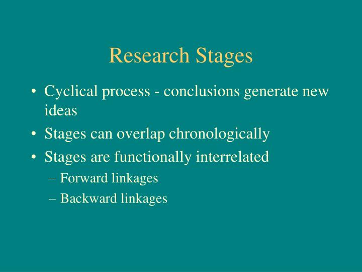 Research Stages