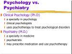 psychology vs psychiatry