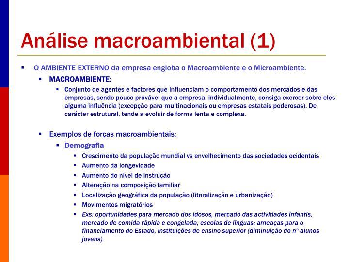 Análise macroambiental (1)