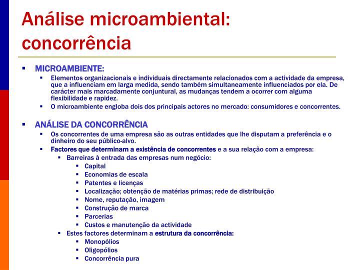 Análise microambiental: concorrência