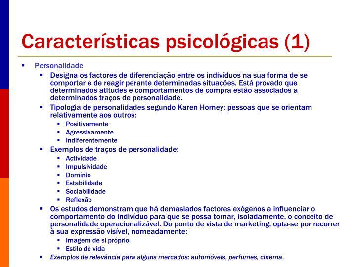 Características psicológicas (1)