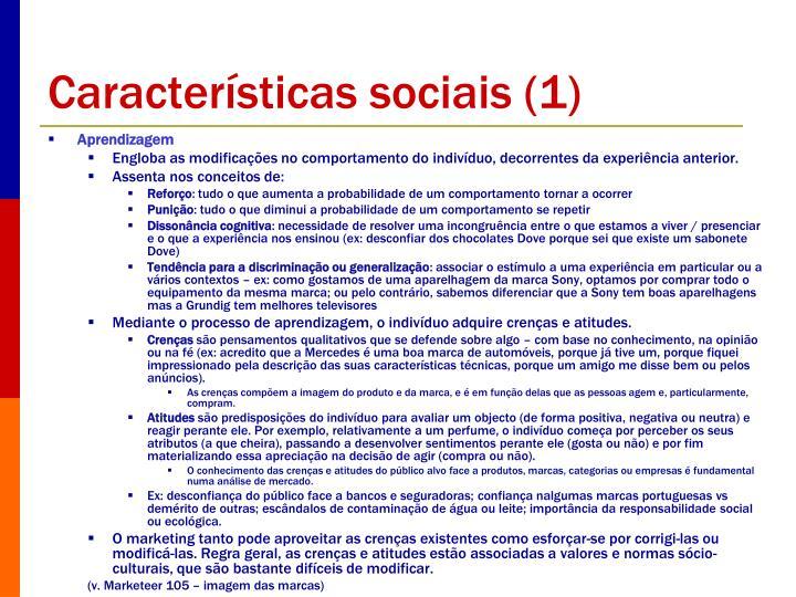 Características sociais (1)