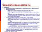 caracter sticas sociais 1