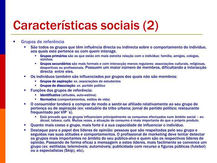 Características sociais (2)