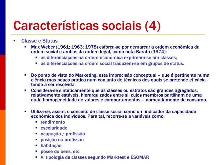 Características sociais (4)
