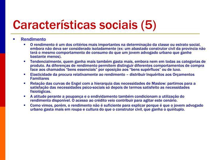 Características sociais (5)