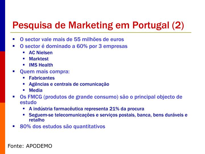 Pesquisa de Marketing em Portugal (2)