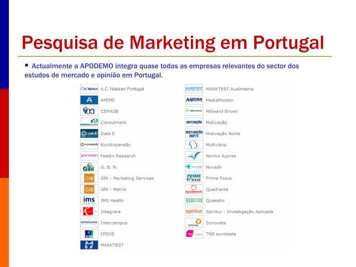 Pesquisa de Marketing em Portugal