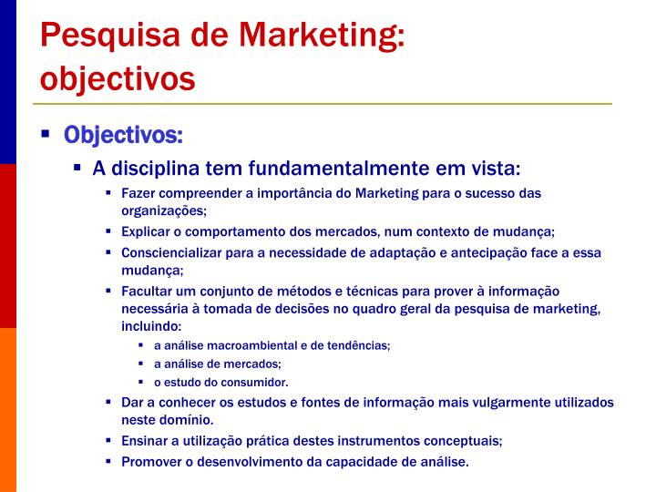 Pesquisa de Marketing: