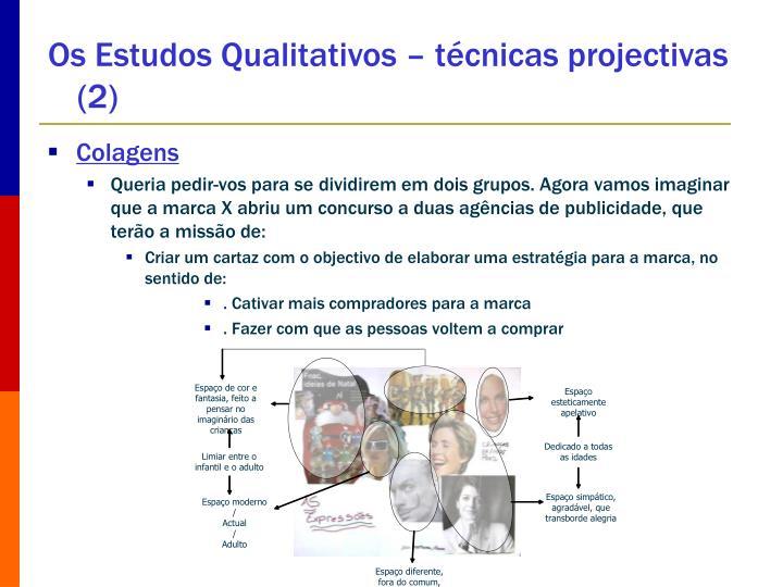 Os Estudos Qualitativos – técnicas projectivas (2)