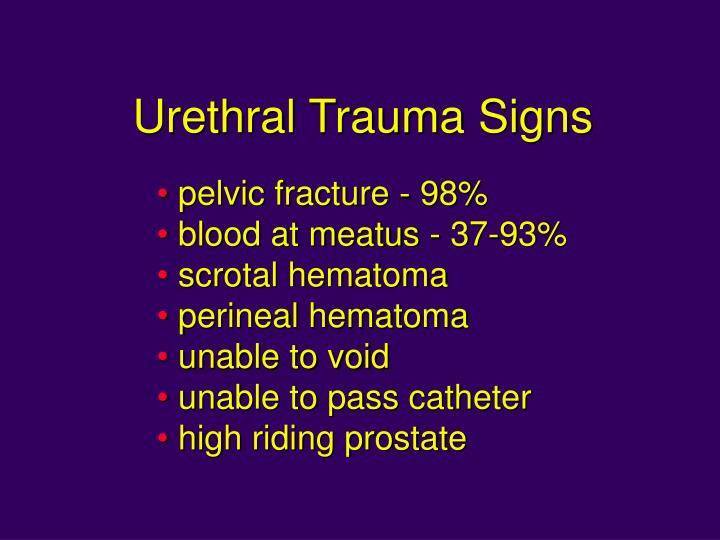 Urethral Trauma Signs