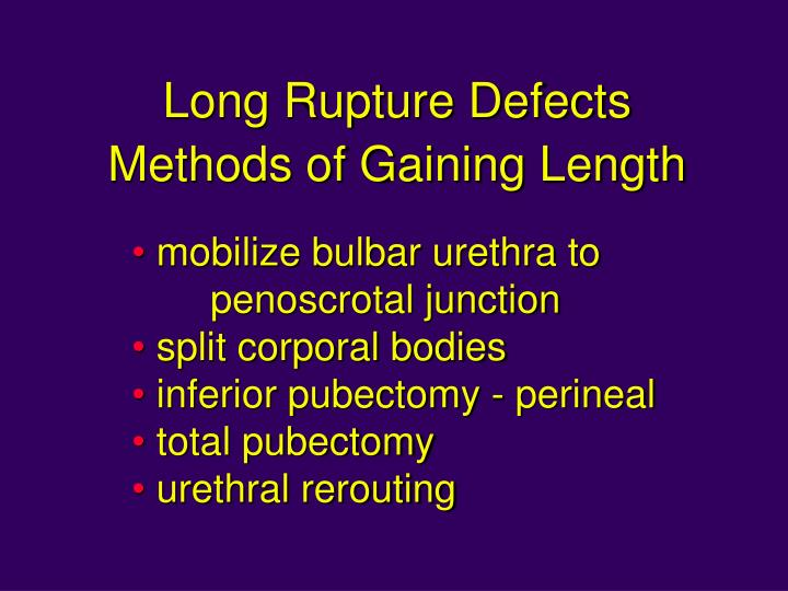 Long Rupture Defects