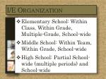 i e organization