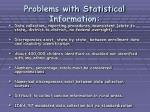 problems with statistical information